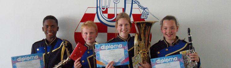 Vier geslaagden bij muziekexamens